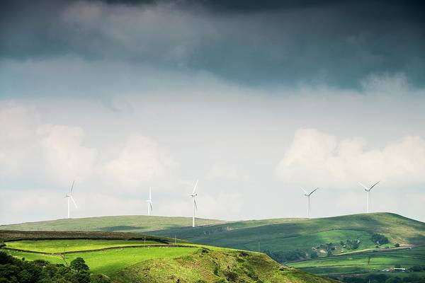 Moorland Photograph - Wind Turbines by Dan Dunkley