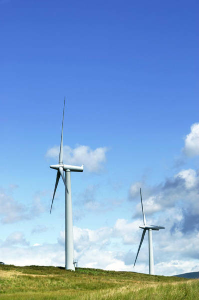 Generators Photograph - Wind Turbines by Gustoimages/science Photo Library