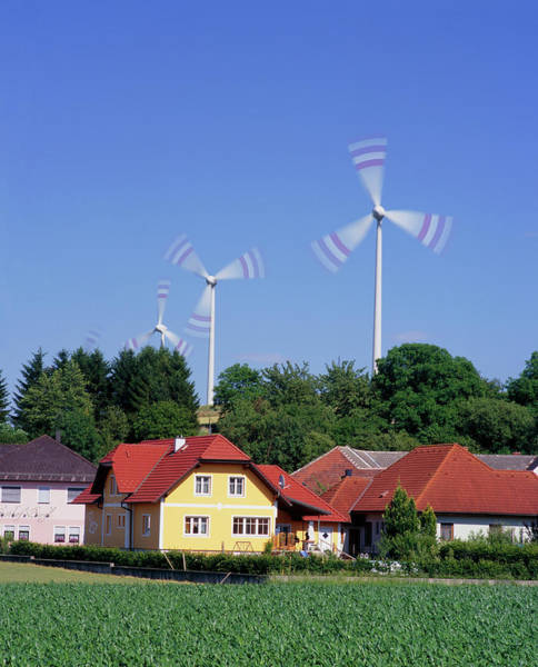 Generators Photograph - Wind Turbines by Martin Bond/science Photo Library