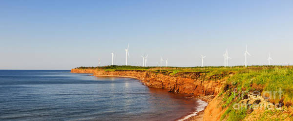Wind Turbines On Atlantic Coast Art Print