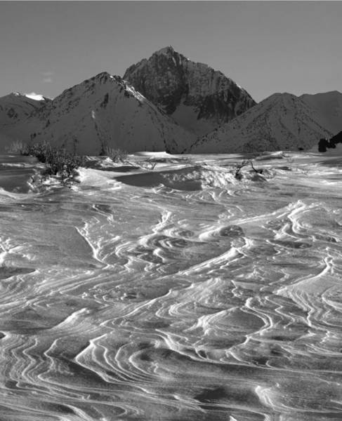 Photograph - 3m6394-v-bw-mt Morrison, Snow   by Ed  Cooper Photography