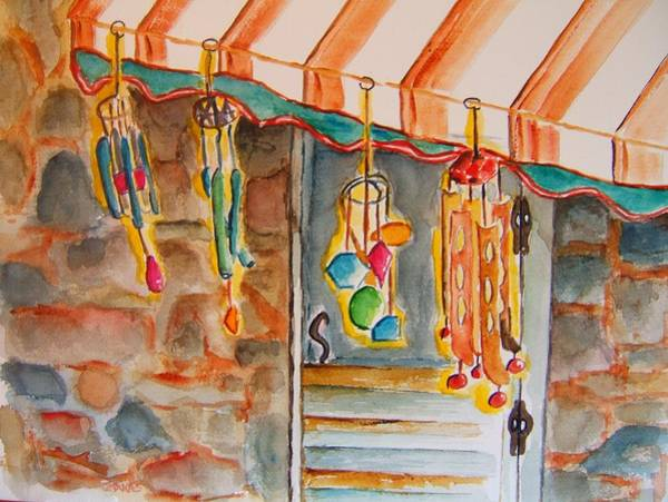 Wall Art - Painting - Windchimes by Elaine Duras