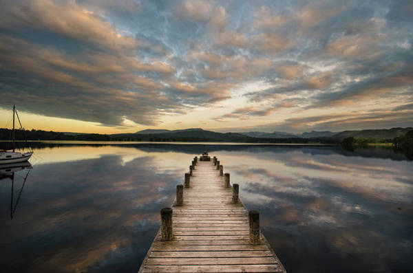 Jetty Photograph - Windermere At Dawn by David Vickers