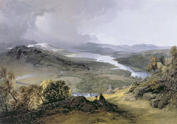 Wall Art - Photograph - Windermere From Orrest Head Engraving by James Baker Pyne