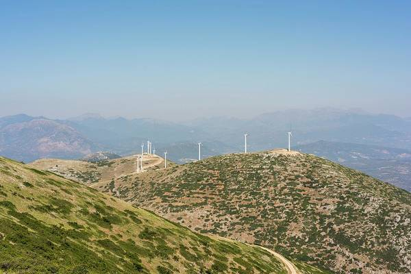 Peloponnese Photograph - Windfarm by David Parker/science Photo Library