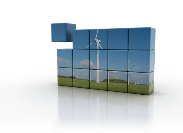 Wall Art - Photograph - Windfarm On Cubs by Jesper Klausen / Science Photo Library