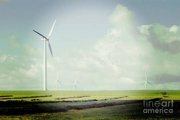Instagram Photograph - Windfarm With Instagram Effect by Colin and Linda McKie
