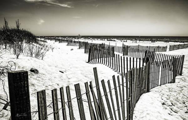 Wall Art - Photograph - Winding Fence - Bridgehampton Beach - Ny by Madeline Ellis