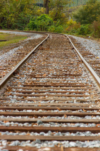 Photograph - Winding Rails by Heather Roper