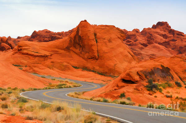 Photograph - Winding Road In Valley Of Fire by Les Palenik