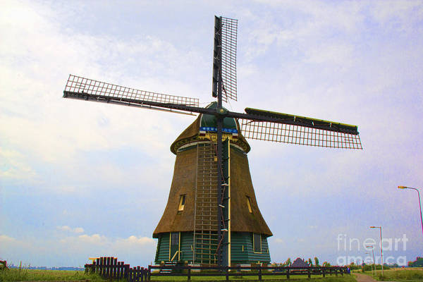Photograph - Windmill 2 - Amsterdam by Crystal Nederman