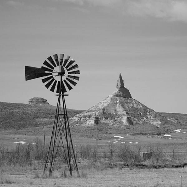 Photograph - Windmill At Chimney Rock by HW Kateley