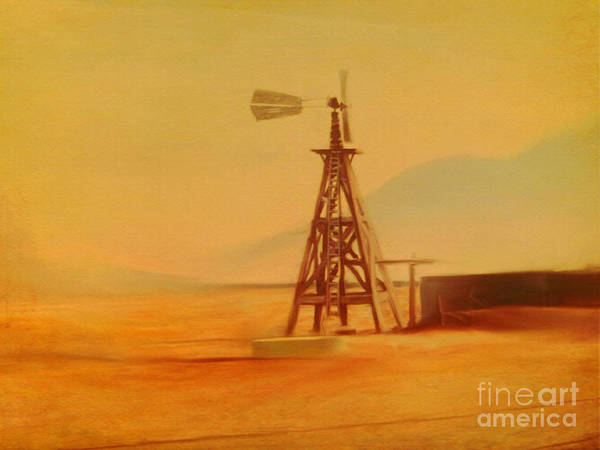 Painting - Windmill At The Ranch by Dennis Buckman