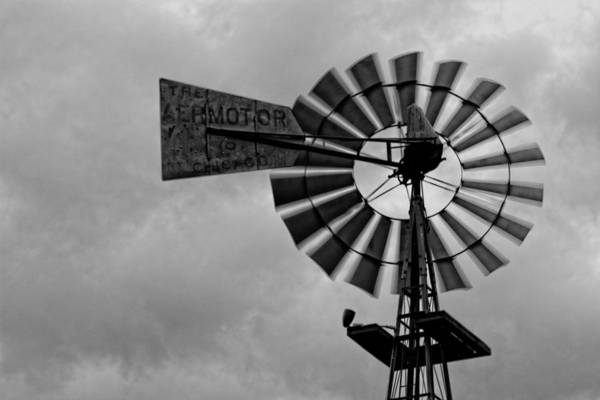 Photograph - Windmill Black And White by Jonathan Davison