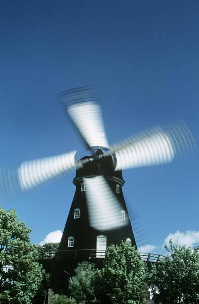 Skane Photograph - Windmill by Dan Sams/science Photo Library