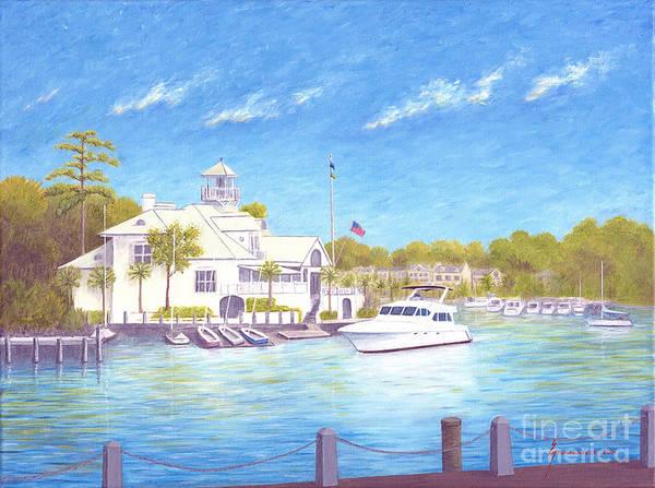 Hilton Head Island Painting - Yacht At Hilton Head Island by Jerome Stumphauzer