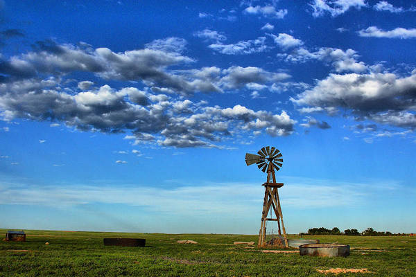 Wall Art - Photograph - Windmill In Blue by Steven Reed