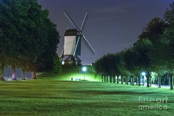 Wall Art - Photograph - Windmill In Bruges by Juli Scalzi