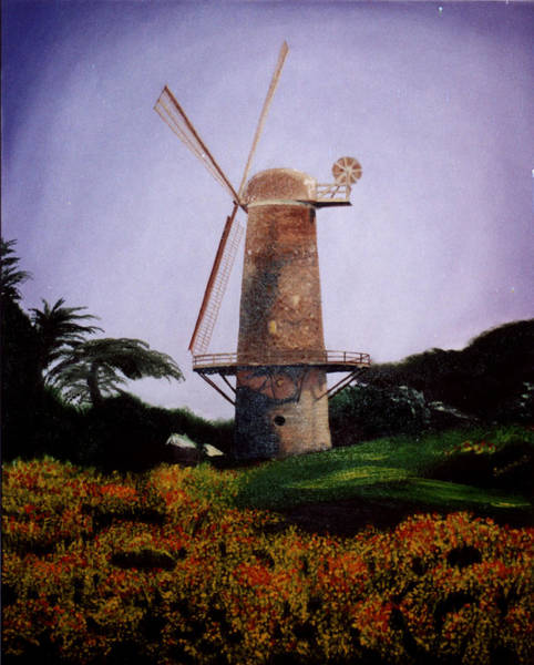 Painting - Windmill In Golden Gate Park by Alexandra Louie