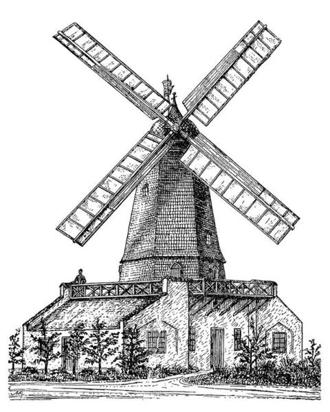 Cours Photograph - Windmill by Science Photo Library
