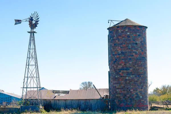 Photograph - Windmill Shed Silo by Edward Peterson