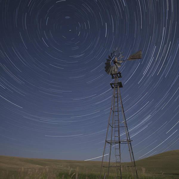 Wall Art - Pyrography - Windmill Stars by Latah Trail Foundation