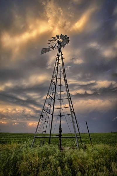 Pump Photograph - Windmill Storm by Thomas Zimmerman