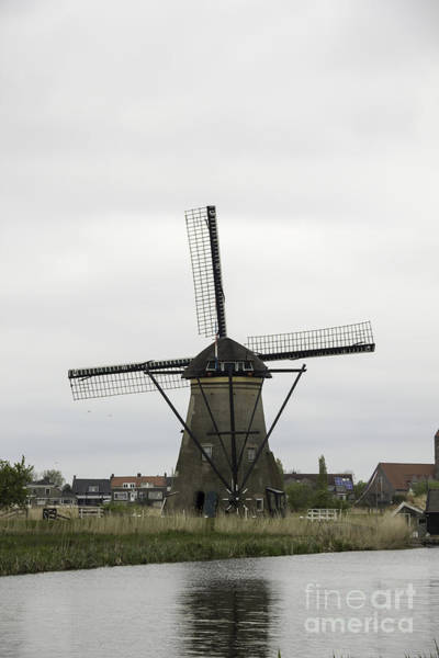 Noord Holland Wall Art - Photograph - Windmill Tail Pole At Kinderdijk by Teresa Mucha