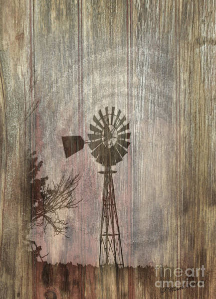 Wall Art - Mixed Media - Windmill by Timothy Clinch
