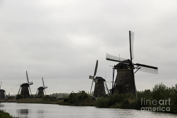 Noord Holland Wall Art - Photograph - Windmills At Kinderdijk by Teresa Mucha