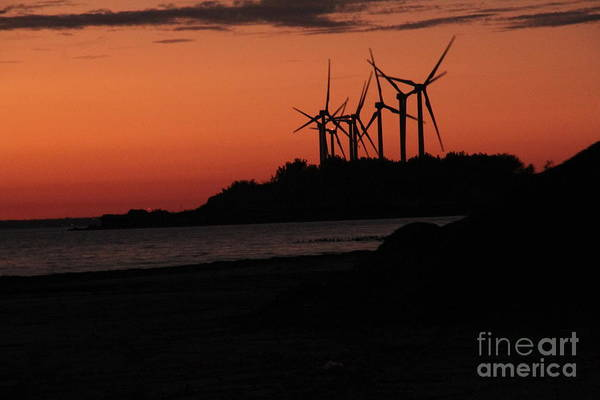 Photograph - Windmills At Sunset by Jim Lepard