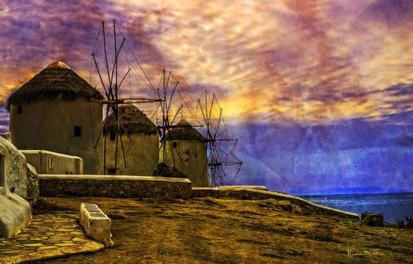 Wall Art - Photograph - Windmills In Mykonos by Madeline Ellis