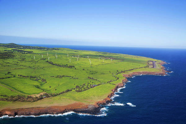 Big Island Photograph - Windmills, North Kohala, Big Island by Douglas Peebles