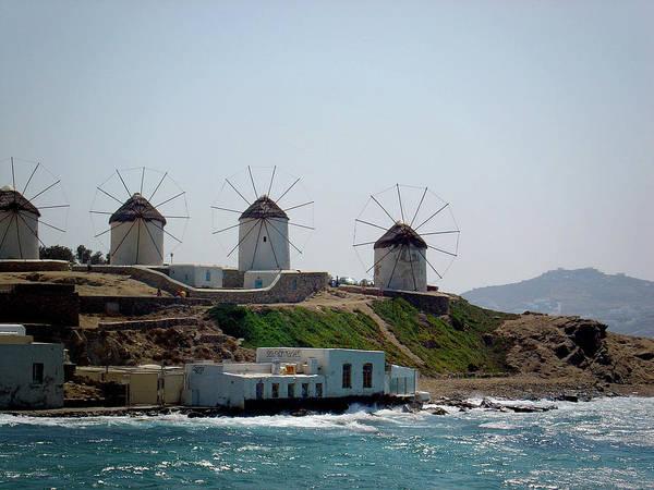 Photograph - Windmills Of Mykonos by Julie Palencia