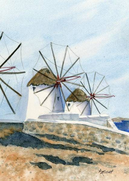 Windmills Of Mykonos Art Print