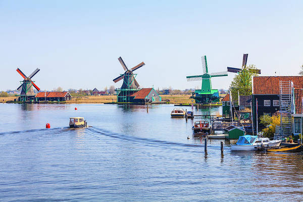 Photograph - Windmills, Zaanse Schans, Netherlands by Fraser Hall