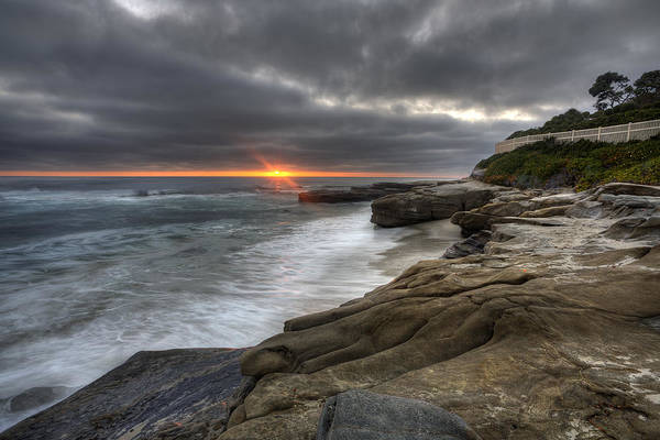 High Dynamic Range Photograph - Windnsea Fence by Peter Tellone