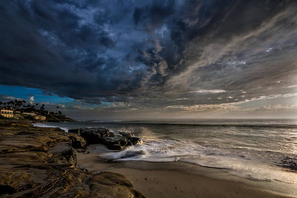 High Dynamic Range Photograph - Windnsea Stormy by Peter Tellone