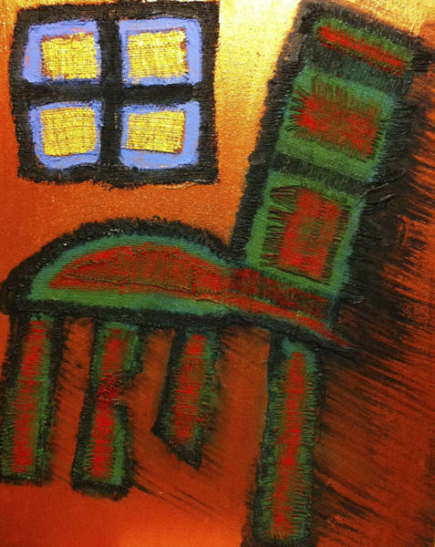 Painting - Window And Chair by Cleaster Cotton
