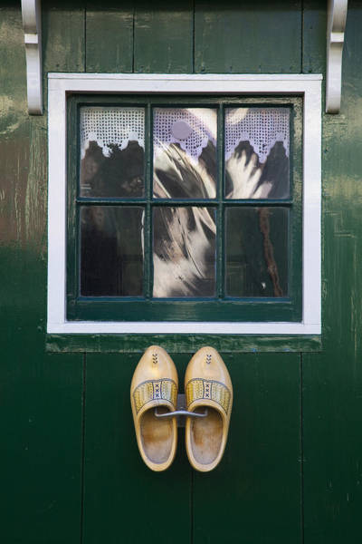 Photograph - Window And Clogs by Maria Heyens