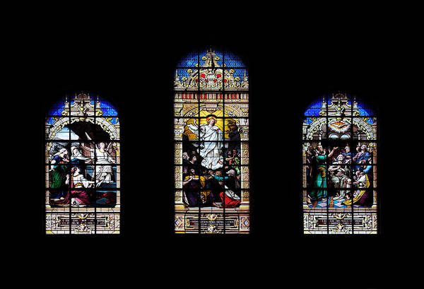Photograph - Window Art In Boston Trinity Church by Songquan Deng
