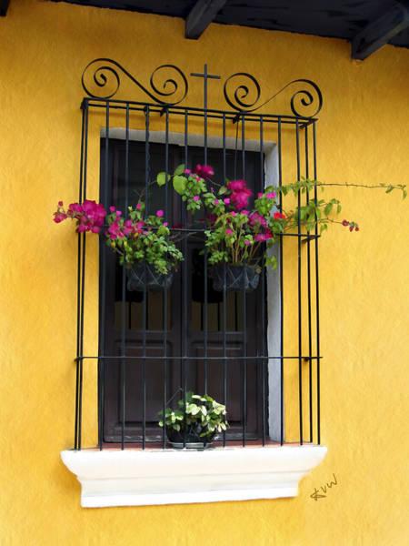 Photograph - Window At Old Antigua by Kurt Van Wagner