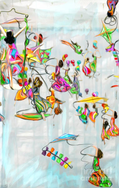 Wind Chime Painting - Window Dancers by Andy Rooney