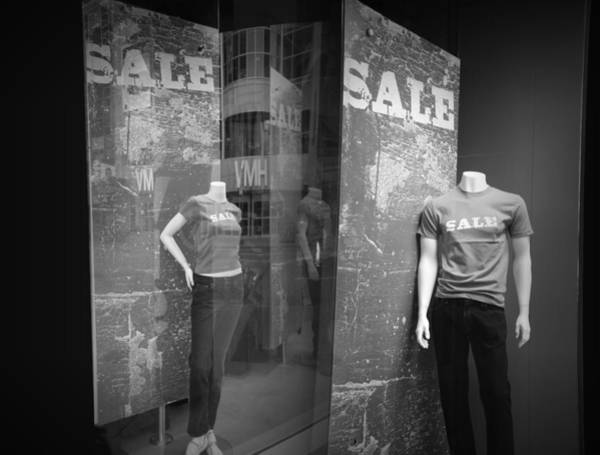 Photograph - Window Display Sale With Mannequins No.1292 by Randall Nyhof