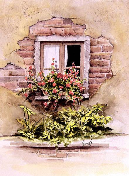 Painting - Window Flowers by Sam Sidders