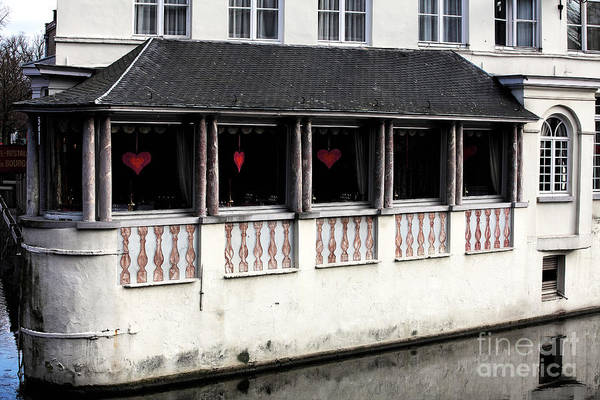 In Bruges Photograph - Window Hearts In Bruges by John Rizzuto