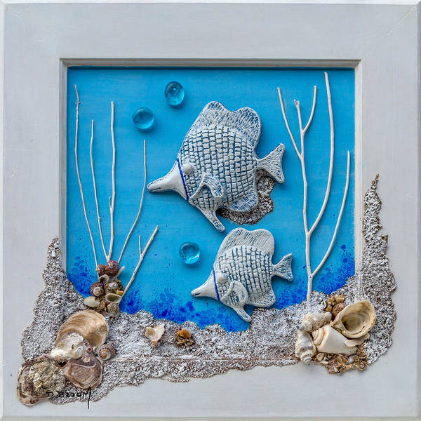 Broom Mixed Media - Window Into A Watery World 2 by Dawn Broom