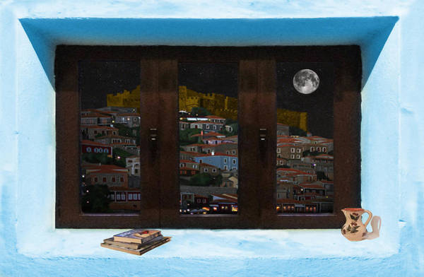 Photograph - Window Into Greece 3 by Eric Kempson