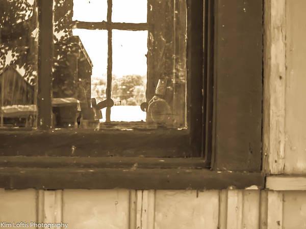 Pioneer School Photograph - Window Into History by Kim Loftis