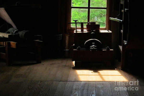 Bonneyville Mill Wall Art - Photograph - Window Light Reflection by Tina M Wenger